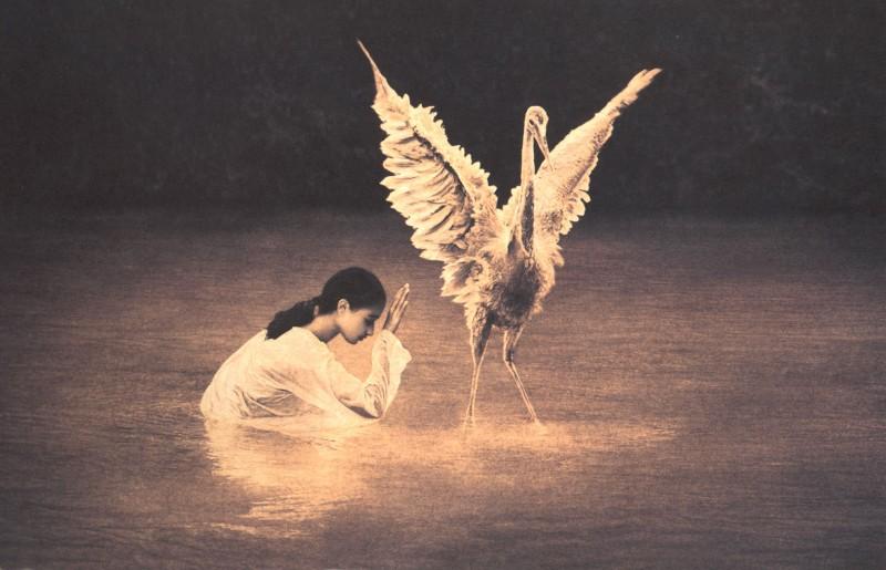 Girl and bird