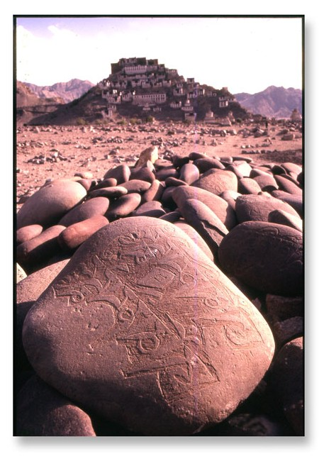 Ladakh temple and mani stones